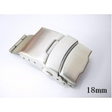18mm stainless steel safelock buckle for 20mm watch band strap