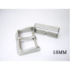 18mm polished steel buckle for vintage omega eta 20mm leather watch band