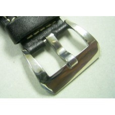 22mm polished steel buckle for pam panerai 24mm leather watch band