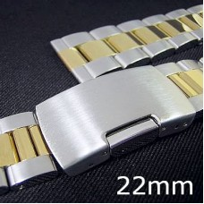 22mm gold tone jubilee 2tone stainless steel watch band for rolex