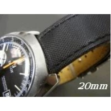 18mm black kevlar  leather watch band  for seamaster submariner