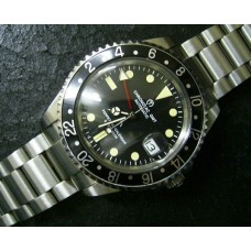 chronotac  Black automatic movt submariner vintage style watch