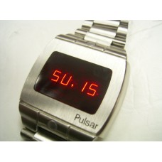 tiffany version vintage Pulsar 3502 LED stainless steel watch