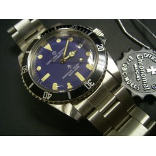 chronotac navy blue automatic movt submariner vintage style watch