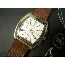 chronotac quartz chrono stainless steel watch white