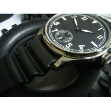 chronotac  6497 wind up movt. watch military vintage style watch