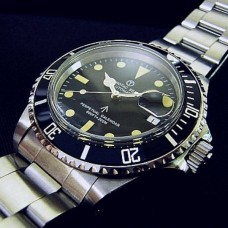 chronotac 1680 SUB automatic movt submariner vintage style watch